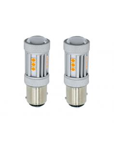 Coppia LED 1156 FRECCIA ARANCIO BAU15S P21W 13 LED 880lm CANBUS