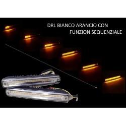 DRL LED BIANCO GIALLO SEQUENZIALE POSIZIONE FRECCIA