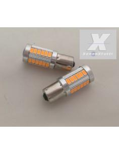 COPPIA LED 1156 / BA15S 33 LED FRECCIA ARANCIO