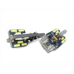 COPPIA LED T10 CANBUS 24 SMD 4014 + IC
