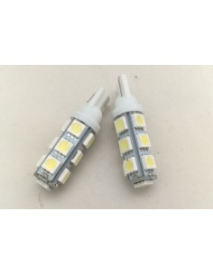 COPPIA DI LED T10 13 SMD 5050 NO CANBUS