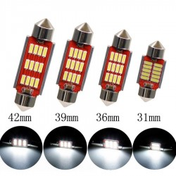 LED FESTOON  SILURO 12 LED 12V 24V  CANBUS 4014 39MM