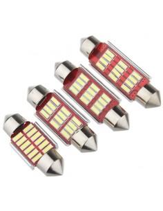LED FESTOON  SILURO 12 LED 12V 24V  CANBUS 4014 39MM