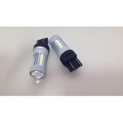 2 Lampade LED T20 7443 W21/5W W3x16q 13 LED 3030 880LM Luce Bianca 6000k