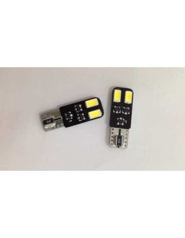 Coppia Led 3.2W T10 4 LED SMD 5630 No errore Canbus