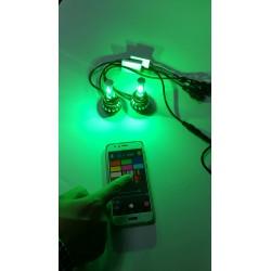 KIT FULL LED H7 RGB WIFI BIANCO ANDROID I-PHONE APP AUTO MOTO