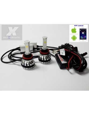 KIT FULL LED H9 RGB WIFI BIANCO ANDROID I-PHONE APP AUTO MOTO