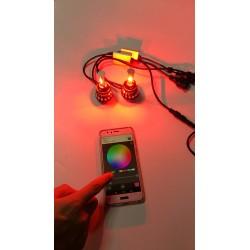 KIT FULL LED H4 RGB WIFI BIANCO ANDROID I-PHONE APP AUTO MOTO