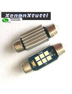 2 SILURO 36MM 3030 6 LED CANBUS SUPER-LUMINOSI SILURI