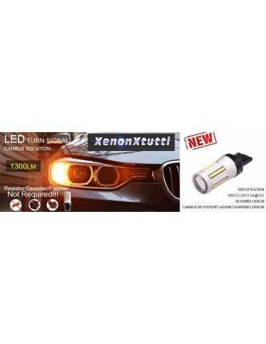 SUPER CANBUS LED 1156 FRECCIA ARANCIONE BAU15S P21W 66 LED 4014 1300lm