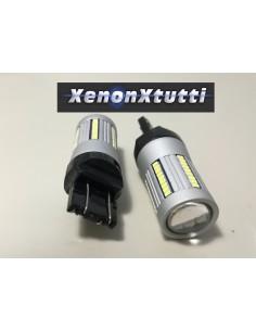 LED T20 7443 21W/5W SUPER CANBUS BIANCO 66 LED 2016 1300lm