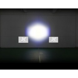"PROIETTORE LED LENTICOLARE H4 H1 H7 2,5"" LUCE ALTA DRL DIURNO"