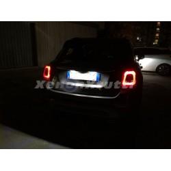 PLAFONIERE TARGA LED FIAT 500 500C LUCI