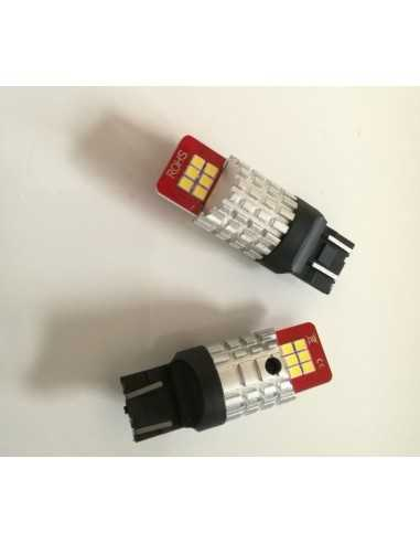 LED T20 7443 21W/5W CANBUS BIANCO 12 SMD 3030