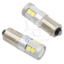 COPPIA BA9S LED 9 SMD 3030 SUPER CANBUS