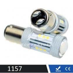 COPPIA DI LED 1157 BIANCO BAY15D P21/5W led 3030