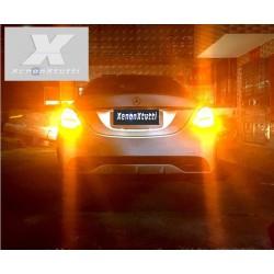 SUPER CANBUS LED 1156 FRECCIA ARANCIONE BAU15S P21W 66 LED 2016 1300lm