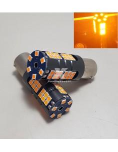 SUPER CANBUS LED 1156 FRECCIA ARANCIONE BAU15S P21W 54 LED 2800lm arancione