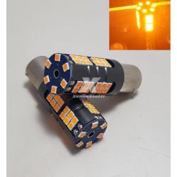 SUPER CANBUS LED 1156 FRECCIA ARANCIONE BAU15S P21W 54 LED 2800lm