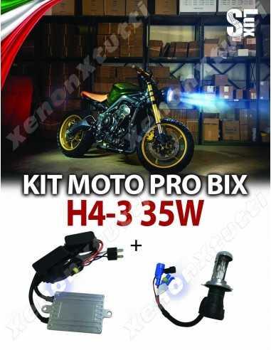 KIT PRO BIXENON SLUX METAL H4-3 MOTO 35W AC