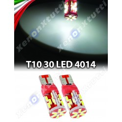 COPPIA 2 LED T10 CANBUS 30SMD 4014