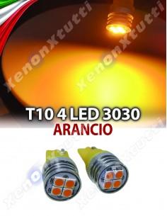 COPPIA LED T10 4 LED ARANCIO 3030