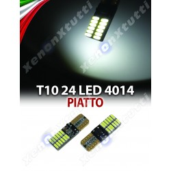 COPPIA LED T10 SUPER CANBUS 4014 24 LED