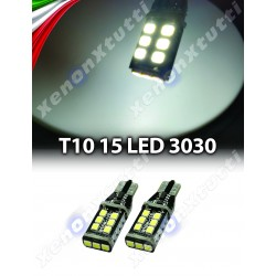 2 LED T10 15 LED CANBUS T10 W5W 800 lumens