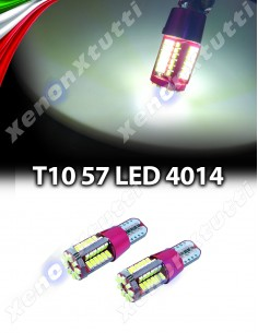COPPIA LED T10 CANBUS 57 SMD 4014