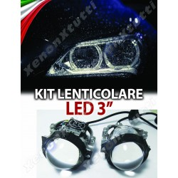 KIT FARI BI-LED LENTICOLARE 3'' H4 H1 H7