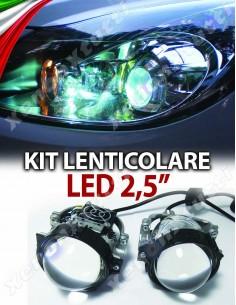"""PROIETTORE BI-LED LENTICOLARE H4 H1 H7 2,5"""""""