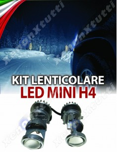PROIETTORE MINI H4  BI-LED LENTICOLARE ALL IN ONE