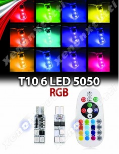 T10 W5W RGB CON TELECOMANDO