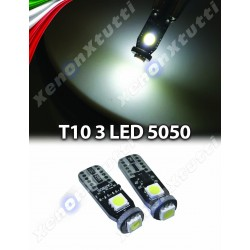 Coppia T10 LED 3 SMD 3030 CANBUS IC
