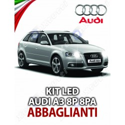 KIT FULL LED ABBAGLIANTI AUDI A3 8P 8PA SPORTBACK SPECIFICO