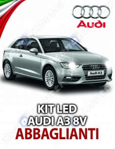 KIT LED ABBAGLIANTI E DIURNE AUDI A3 8V SPORTBACK SPECIFICO
