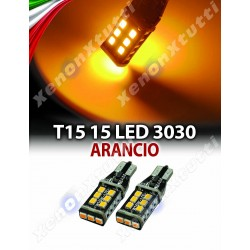 2 LED T15 ARANCIONI WY16W CANBUS