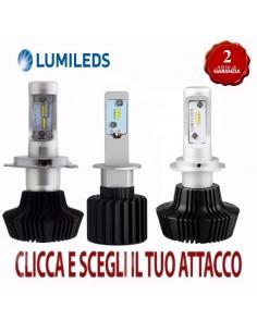 KIT LED PHILIPS LUMILEDS H7 H1 H15 H11 H3 H4 HB4 HB3 8000 lumen