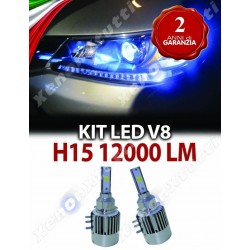 KIT H15 LED DIURNA ABBAGLIANTE ALL IN ONE CANBUS