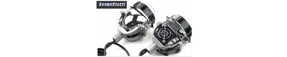 Proiettori Lenticolari Led e Laser lenti sostituzione Fari Retrofit.