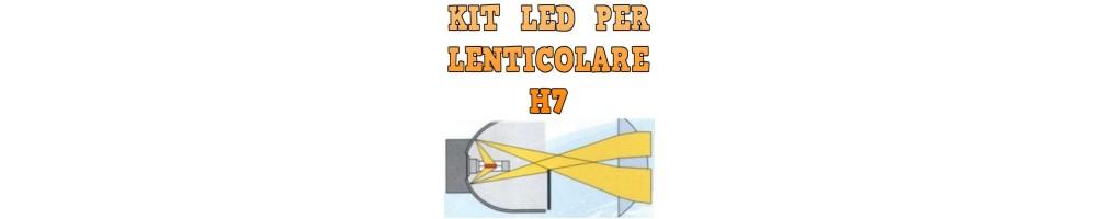 Kit LED anabbaglianti per Fari Lenticolari H7 mono led nessuna ombra.