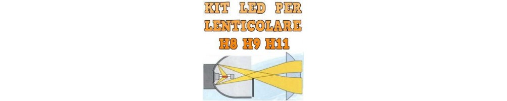Kit LED anabbaglianti per Fari Lenticolari H8 H9 H11 mono led no ombre