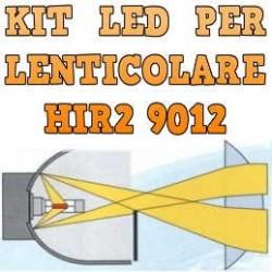 Kit LED Lenticolari HIR2 9012 Anabbaglianti Abbaglianti