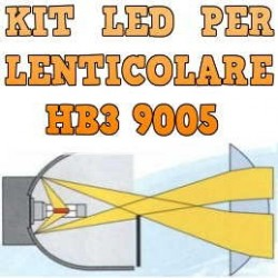 Kit LED Anabbaglianti Lenticolari HB3 9005