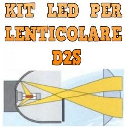 Kit LED Lenticolari D2S Anabbaglianti Abbaglianti