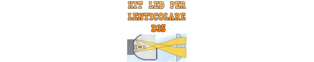Kit LED anabbaglianti per Fari Lenticolari D3S mono led nessuna ombra.