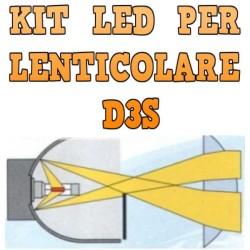 Kit LED Lenticolari D3S Anabbaglianti Abbaglianti