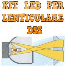 Kit LED Lenticolari D5S Anabbaglianti Abbaglianti