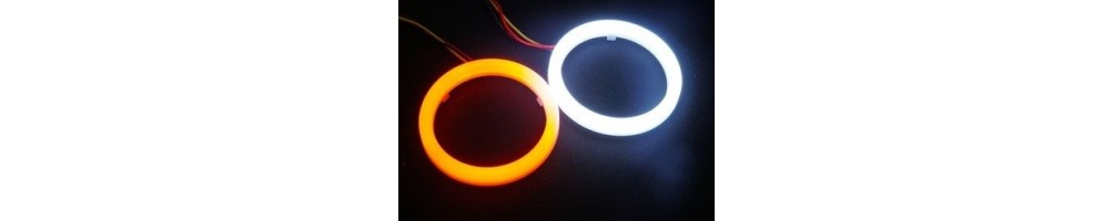 ANGEL EYE LED COTTON BIANCO ARANCIO cerchio anello bianco luci morbido